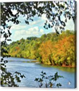 Autumn Along The New River - Bisset Park - Radford Virginia Acrylic Print