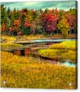 Autumn Along The River Acrylic Print