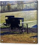 Autumn Amish Horse Buggy Acrylic Print