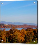 Autumn And The Hudson River Acrylic Print
