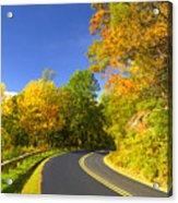 Autumn Appalachian Drive Acrylic Print