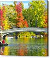 Autumn At Bow Bridge Central Park Acrylic Print