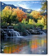212m47-autumn At Cascade Springs  Acrylic Print