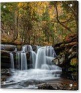 Autumn At Dunloup Creek Falls Acrylic Print