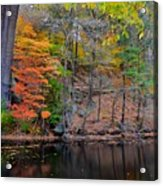 Autumn At Echo Bridge Acrylic Print