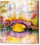 Autumn at Gapstow Bridge Central Park Acrylic Print