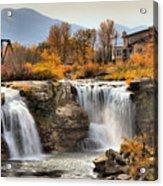 Autumn At Lundbreck Falls Provincial Park Acrylic Print