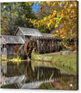 Autumn At Mabry Mill Acrylic Print