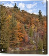 Autumn At Pink Lake Acrylic Print