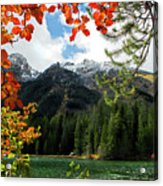 Autumn At String Lake Acrylic Print