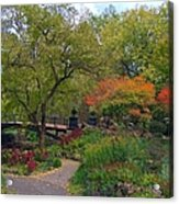 Autumn At The Bridge In Lafayette Park Acrylic Print