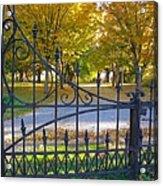 Autumn At The Gates Of Lafayette Park Portrait Acrylic Print