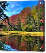 Autumn At The Pond Acrylic Print