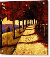 Autumn Avenue Acrylic Print