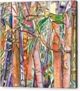 Autumn Bamboo Acrylic Print
