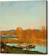 Autumn Banks Of The Seine Near Bougival Acrylic Print