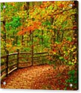 Autumn Bend - Allaire State Park Acrylic Print