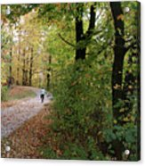 Autumn Bicycling Vertical One Acrylic Print