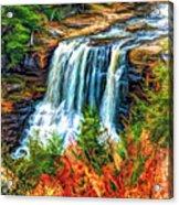 Autumn Blackwater Falls - Paint 3 Acrylic Print