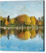 Autumn Blues Acrylic Print