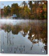 Autumn Boathouse Acrylic Print