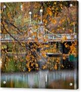 Autumn Bridge Acrylic Print