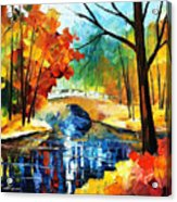 Autumn Calm 2 - Palette Knife Oil Painting On Canvas By Leonid Afremov Acrylic Print