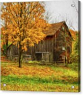 Autumn Catskill Barn Acrylic Print
