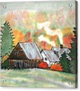 Autumn Chill Silk Painting Acrylic Print