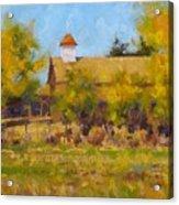 Autumn Church Taos Acrylic Print