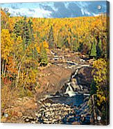 Autumn Color Along Beaver River Acrylic Print