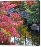 Autumn Color Reflection - Digital Painting Acrylic Print