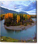 Autumn Colors Along Tanzilla River In Northern British Columbia Acrylic Print