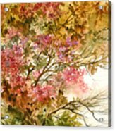 Autumn Colors And Twigs Acrylic Print