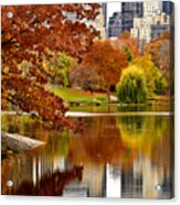 Autumn Colors In Central Park New York City Acrylic Print