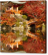 Autumn Colours At Daigo-ji Temple In Kyoto In Japan Acrylic Print