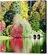Autumn Colours By The Lake Acrylic Print