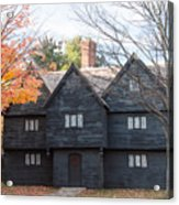 Autumn Comes To The Witch House Acrylic Print