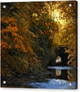 Autumn Country Bridge Acrylic Print