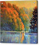 Autumn Day Rising Acrylic Print