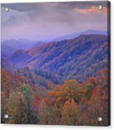 Autumn Deciduous Forest Great Smoky Acrylic Print