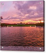 Autumn Evening At Forest Parks Grand Basin Acrylic Print