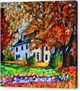 Autumn Farmhouse Acrylic Print