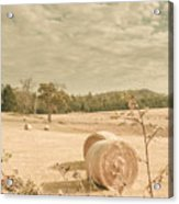 Autumn Farming And Agriculture Landscape Acrylic Print
