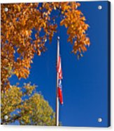 Autumn Flag Acrylic Print