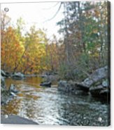 Autumn Flows Toward Winter Acrylic Print