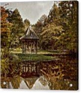 Autumn Gazebo Reflection Acrylic Print