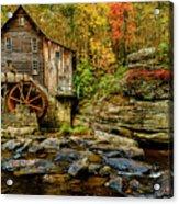 Autumn Glade Creek Grist Mill  Acrylic Print