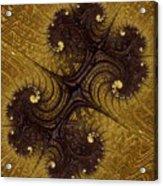 Autumn Glows In Gold Acrylic Print