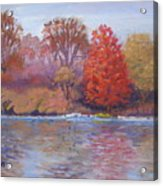 Autumn Hanging On Acrylic Print